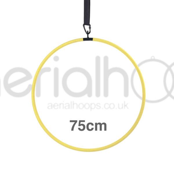 75cm aerial hoop lyra circus yellow