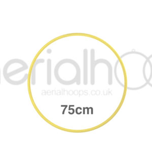 75cm zero point aerial hoop lyra circus yellow