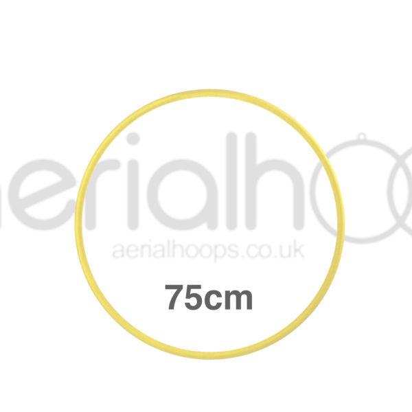 75cm zero point aerial hoop lyra circus yellow