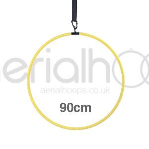 90cm aerial hoop lyra circus yellow