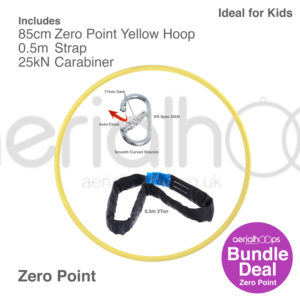 85cm zero point aerial hoop lyra circus bundle yellow