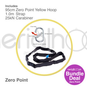 95cm zero point aerial hoop lyra circus bundle yellow