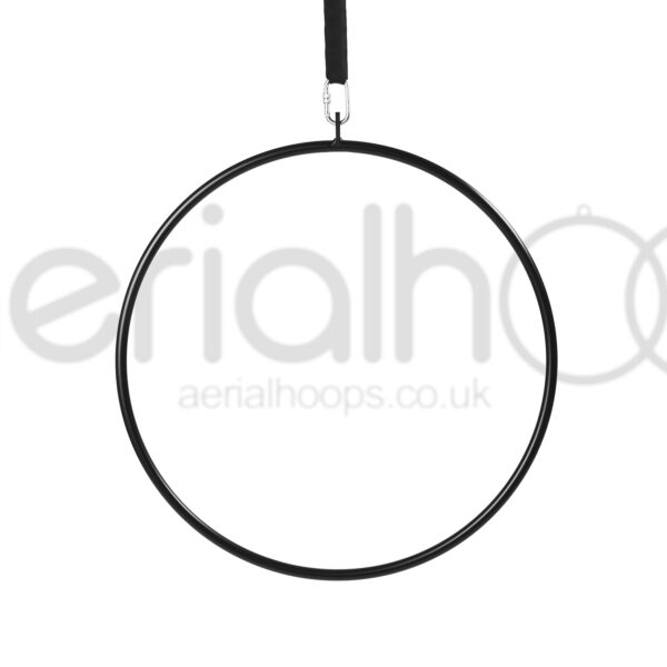 Powder coated single point aerial hoop